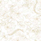 Cosmos Flowers // Outlines // sand