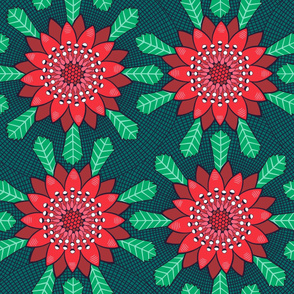 waratah stylized mandala flower