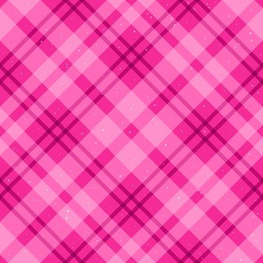 Pink Tartan Plaid With Sparkles