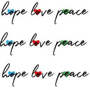 hope love peace