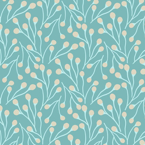 Pretty Ditsy Muted Blue