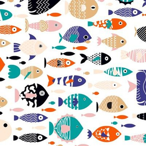 all the fish in the sea - resize - 10.5 x 17.5