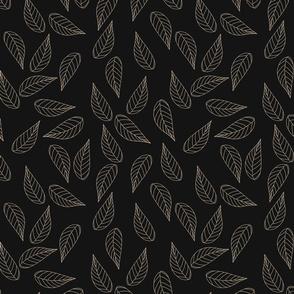 Lone Leaf Black | Random Ranunculus Coordinate | Renee Davis