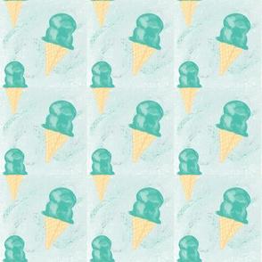 Mint Ice Cream Cones