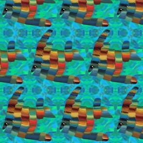 Angel Fish Desert Rainbow Colors
