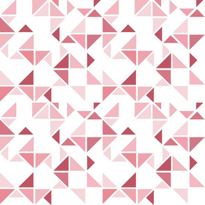Triangles composition in neutral hues