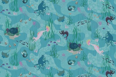 Mercats fabric by dilatorysloth on Spoonflower - custom fabric