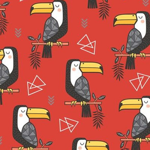 Toucan Bird Tropical Geometric Triangles on Fiesta