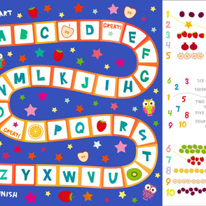 Playmats Funny English alphabet game for Preschool Children, Kids learning number material 1 to 10
