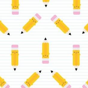 Happy Kawaii Pencils