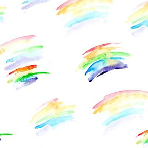 Watercolor rainbows