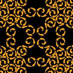 Designer Yellow Swirls