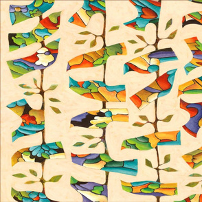 SF colorfowl birds towel