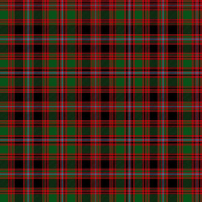 Unidentified tartan from Kilbarchan, red/green/black, 6""