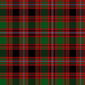 Unidentified tartan from Kilbarchan, red/green/black, 12""