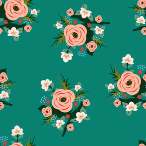 roses for mom - teal