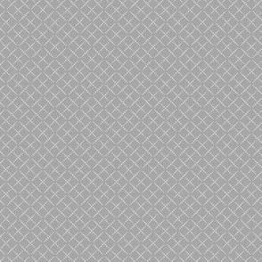 Bead Box: Gray on Gray Beaded Argyle, Diamond Grid