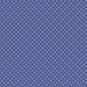 Bead Box: Cobalt Blue & Cream Beaded Grid