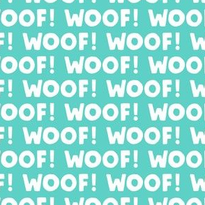 Woof! - Dog - teal - LAD19