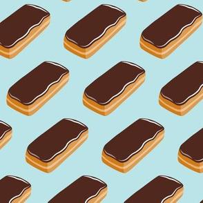 Long John Donut -  Eclair Doughnuts  - light blue - LAD19