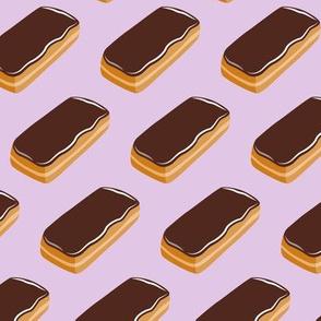 Long John Donut -  Eclair Doughnuts  - light purple - LAD19