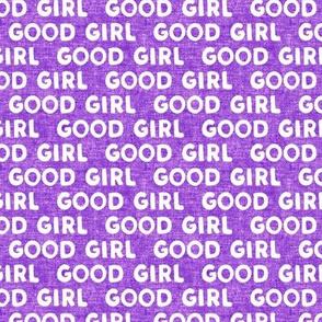 Good girl - dog - typography - purple - LAD19