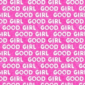 Good girl - dog - typography - hot pink - LAD19