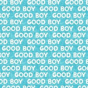 Good boy - dog - typography - light blue - LAD19