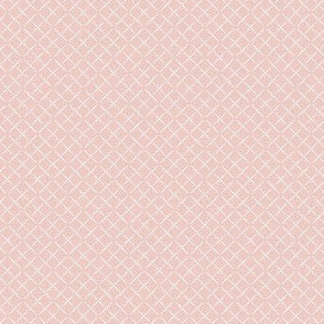 Bead Box: Rose Gold & White  Beaded Argyle, Diamond Grid