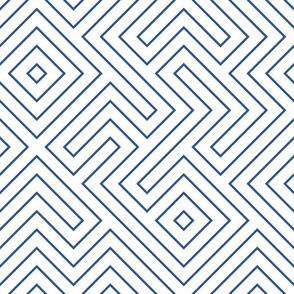 Custom Half Scale Tribal maze blue 2b5697