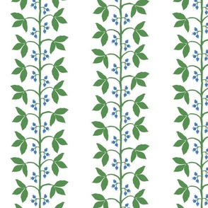 Custom Berry vine stripe blue green