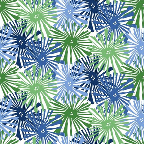Custom Cactus blooms blue greens1