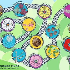 Picnic Blanket Play Mat Treasure Hunt at the Park