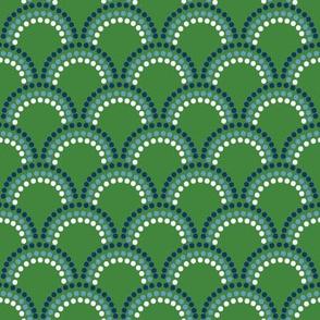 Custom Laura Green scallops
