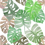 Giant Palm Leaves Green Colourway