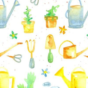 Garden Tools in Yellow