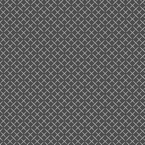 Bead Box: Charcoal Gray & Cream Beaded Argyle, Diamond Grid