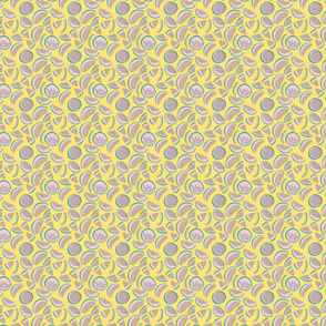 abstract watermelons on yellow