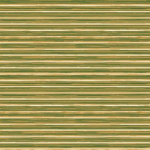 Gold, Ivory and Green Stripes, horizontal
