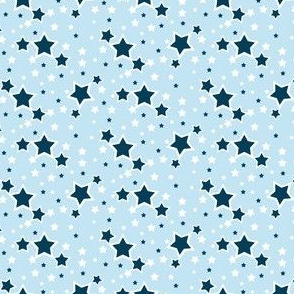 Star Ditsy in Light Blue for 4th of July