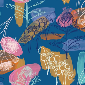 Australian Flora - Blue
