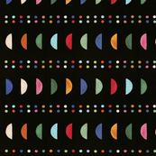 Maasai Linen - Multicolor Crescents