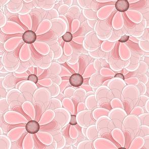 Pink Coral Floral