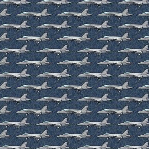 (micro scale) fighter jets - profile - blue - LAD19BS