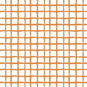 Wonky grid - orange