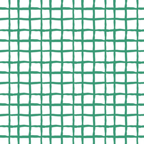 Wonky grid - green