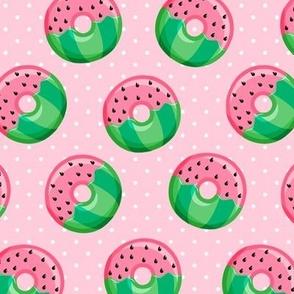 Watermelon donuts - pink polka dot - summer - fruit doughnuts - LAD19