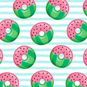 Watermelon donuts - blue stripes - summer - fruit doughnuts - LAD19v
