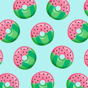 Watermelon donuts - blue - summer - fruit doughnuts - LAD19
