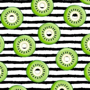 Kiwi donuts - black stripes - fruit doughnuts - LAD19